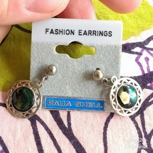 Paula Shell Round Dangle Earrings
